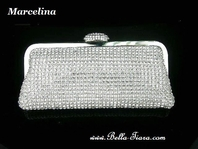 Marcelina - Glamorous Elegant rhinestone crystal clutch purse - wholesale price