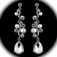 Marie - Elegant white pearl swirl drop earrings - SPECIAL - SOLD