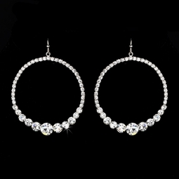 Maritza - Dazzling bold hoop earrings
