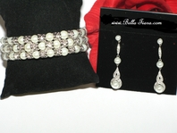 Maryam - Elegant pearl cuff bracelet and earring set - SPECIAL