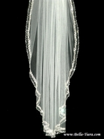 MaryElizabeth - EXQUISITE Swarovski crystal cathedral wedding veil - SALE
