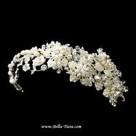 MARZIA - ITALIAN COLLECTION - Gorgeous crystal and pearl wedding clip - SALE