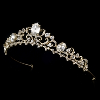 Massia - Traditional beauty gold wedding tiara