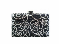 Mavia - COUTURE Rose Swarovski crystal black bag - SALE!!!