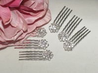 Maxmara - Cluster rhinestone hair pins (set of 6) - SPECIAL