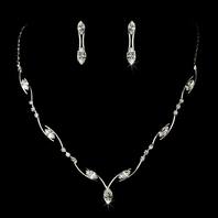 Maya - Simple elegance swarovski bridesmaids necklace set - QUANTITY DISCOUNT