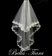 Meghan Markle cathedral veil - Royal collection regal two tier beaded cathedral wedding veil