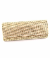 Melanie - NEW Elegant crystal gold clutch evening bag - Special