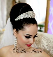 Melinda - REGAL stunning Swarovski crystal wedding tiara