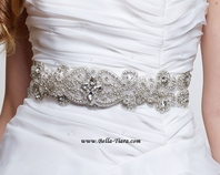 Milena - Stunning all around vintage beaded wedding sash - SALE