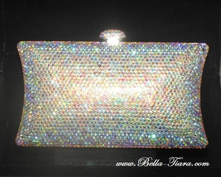 Miriam - Couture Swarovski crystal ab purse - SALE!