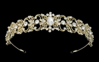 Mistee - Vintage inspired light gold rhinestone crystal headband -SALE