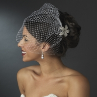 Moda - Elegant crystal flower with cage veil - SALE!!
