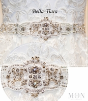Mon Cheri David Tutera Designer all around beaded Belt wedding Sash - SPECIAL