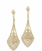 Monica - BREATHAKING Vintage Gold CZ earrings