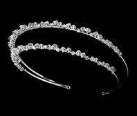 Monica - Double row Swarovski Crystal  Bridal Headband-SALE