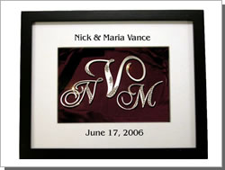 Monogram Cake Topper Shadow Box Display