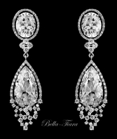 Nadia- Royal Collection CZ crystal wedding earrings