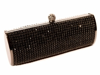 Nero - Gorgeous Elegant Black Swarovski crystal evening purse - SALE
