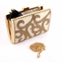 NEW Beautiful gold ivory rhinestone clutch evening bridal purse  - SALE