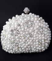 NEW!! Beautiful pearl and rhinestone wedding purse - SPECIAL