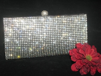NEW!! Elegant black crystal rhinestone evening purse - SPECIAL!