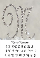 New  Elegant Large French Crystal Monogram Cake Topper