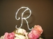 New French Large Full Crystal Monogram Cake Topper