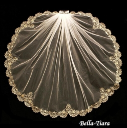 NEW - Gorgeous Gold Embroidered wedding veil