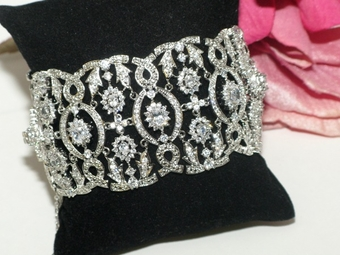 NEW!! Isadora - HIGH END Vintage CZ bridal bracelet -AMAZING PRICE!!