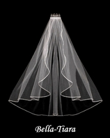 NEW - Beautiful Swarovski Rhinestone Edge Cascading Wedding Veil - SPECIAL