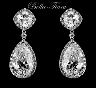 New!! Jenni - Gorgeous CZ wedding drop earrings - SALE