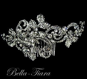 NEW Luxurious collection - Swarovski crystal wedding vintage swirl hair comb
