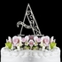 NEW!! Romance Crystal Monogram Wedding Cake Topper