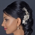 NEW ROMANTIC gold champagne wedding hair comb - SALE