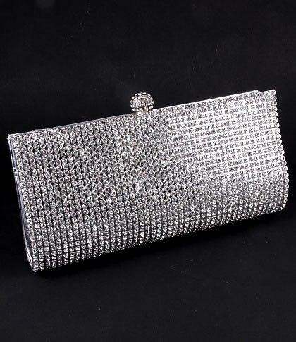 Silver Rhinestone Crystal Evening Clutch Purse Back In Stock A Few Left