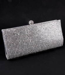 NEW!!! Silver Rhinestone crystal evening clutch purse - Sale!! BACK IN STOCK a few left