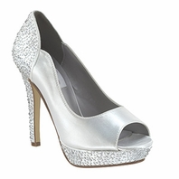 NEW!! Sparkling Dyeable Evening Shoes -Rosa