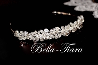 Nicolina-ITALIAN collection - Dazzling Swarovski crystal communion headpiece