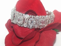 Nicolette - STUNNING!!! High End CZ vintage wedding bracelet - SPECIAL ONE LEFT