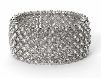 Noreen - NEW!! Dazzling Swarovski crystal wide stretch bracelet - SALE!!