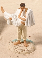 Ocean Beach Couple Cake Topper