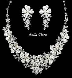Paris - Dazzling swarovski crystal wedding necklace set - SPECIAL