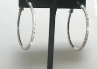 Perfetta - Beautiful austrian crystal rhinestone loop earrings - SPECIAL!!