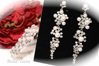 Perlina - Classic pearl drop earrings and bracelet set - SPECIAL