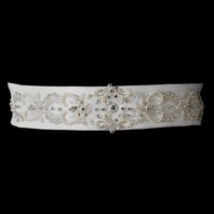 Pearl & Rhinestone Beaded bridal wedding belt