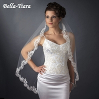 PRE-ORDER - The Romance Collection - 1 Tier Fingertip Lace Veil