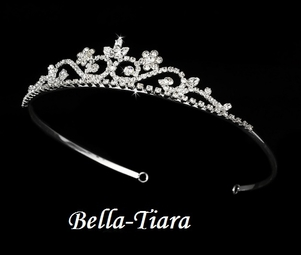 Pretty floral rhinestone communion tiara - SALE