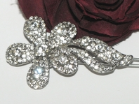 Pretty rhinestone Fflower girl hair barrette - SPECIAL