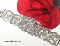 Principessa - Beautiful vintage Swarovski crystal wedding bracelet -SPECIAL ONE LEFT